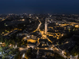 Pordenone by night©Drone Reportage